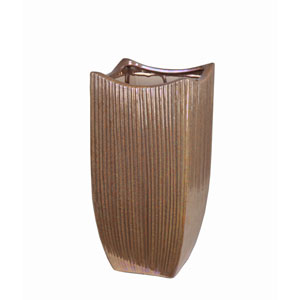 Gold Medium Ceramic Vase