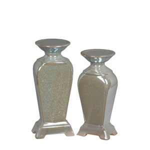 Pearl Candleholders, Set of Two