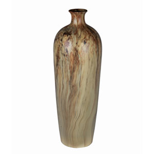 Off Yellow Large Ceramic Vase
