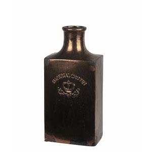 Dark Bronze Large Ceramic Imperial Crown Vase