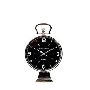Chrome Aluminum Table Clock