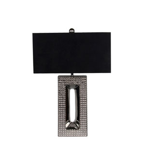 Chrome and Black One-Light Ceramic Table Lamp
