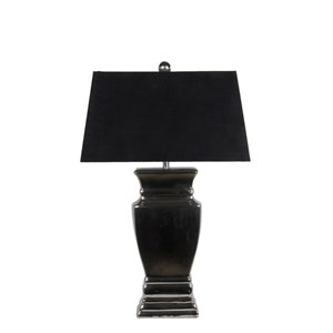 Black Ceramic One-Light Table Lamp