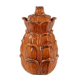 Orange Large Lidded Pot