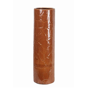 Orange Giraffe Pattern Medium Ceramic Vase