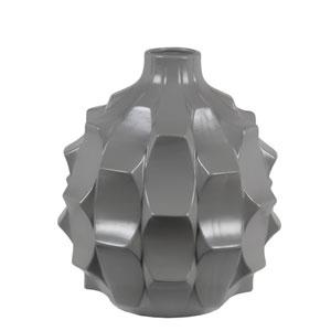 Modern Gray Round Ceramic Vase