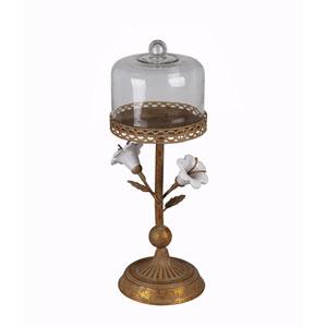 Rusted Medium Metal Flower Candleholder