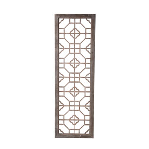 Brown 56-Inch Tall Wooden Screen Panel