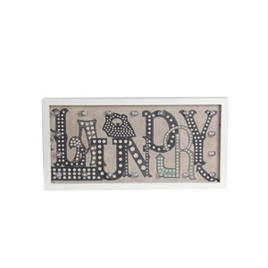 Multicolor Laundry LED Wooden Wall Decor