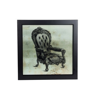 Gray Vintage Chair: 19 x 19-Inch Wall Art