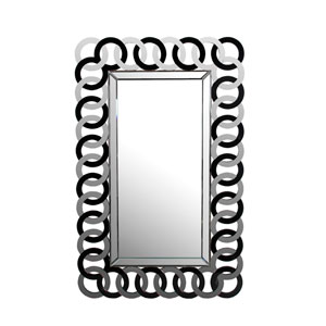 Black and Clear Wall Mirror