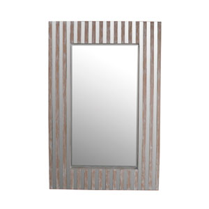 Brown Wooden Wall Mirror