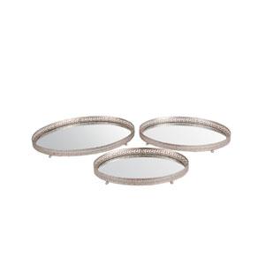 Silver Iron Trays, Set of Three