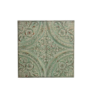 Green Iron Wall Plaque