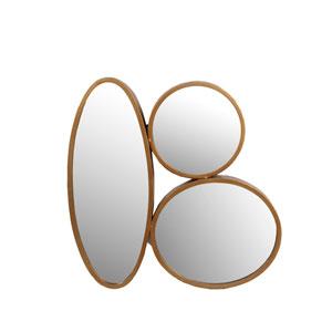 Gold Three Oval Iron Mirror