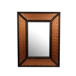 Copper Wood and Metal Rectangular Mirror