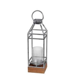 Silver Small Metal Candle Lantern