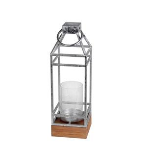Silver Large Metal Candle Lantern