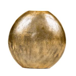 Antique Gold Large Brass Vase