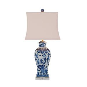 Blue and White Porcelain Square Vase Table Lamp