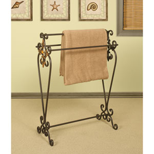 Ornate Triple Bar Quilt Rack