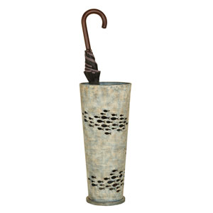 Aqua Blue Fish Umbrella Stand