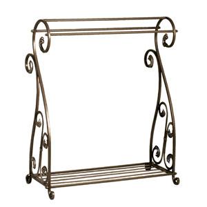 Bronzed Metal Quilt Rack