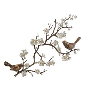 Bird and Cherry Blossom Wall