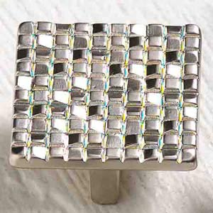 Italian Designs Group-Mosaic Satin Nickel Square Knob