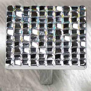 Italian Designs Group-Mosaic Polished Chrome Square Knob