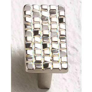 Italian Designs Group-Mosaic Satin Nickel Rectangle Knob