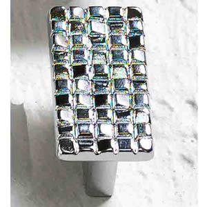 Italian Designs Group-Mosaic Polished Chrome Rectangle Knob