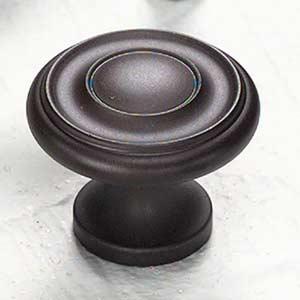 Traditional Designs Oil-Rubbed Bronze Circle Knob