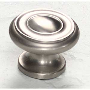 Traditional Designs Satin Nickel Circle Knob