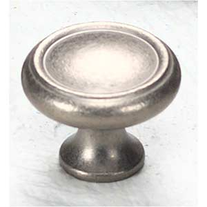 Traditional Designs Distressed Nickel Circle Knob