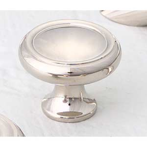 Traditional Designs Polished Nickel Circle Knob
