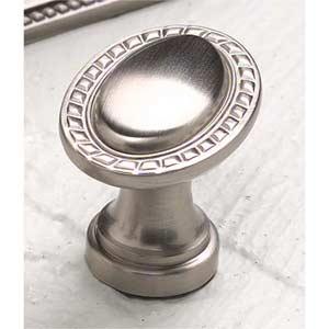 Montcalm Satin Nickel Oval Knob