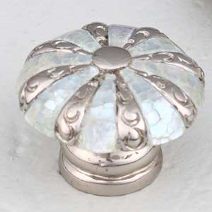 Mother of Pearl Polished Nickel Knob