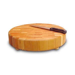 Round End-Grain Chopping Block