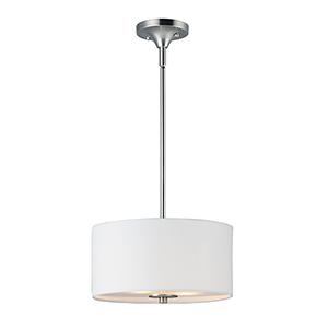 Bongo Satin Nickel 13-Inch LED Semi-Flush Mount