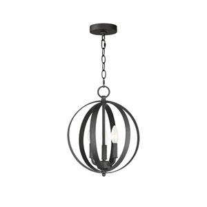 Provident Black Three-Light 15-Inch Pendant