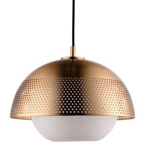 Perf Satin Brass LED Single Pendant