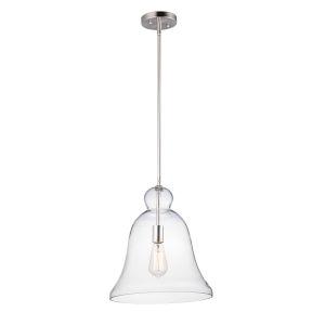 Annabelle Satin Nickel 14-Inch One-Light Adjustable Pendant