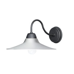Dockside White and Black One-Light Outdoor Wall Mount