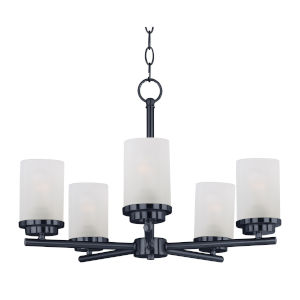Corona Black Five-Light Single-Tier Chandelier