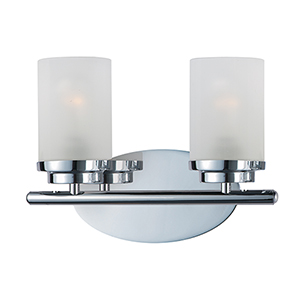 Corona Polished Chrome 12-Inch Two-Light Bath Vanity