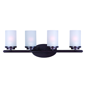 Corona Oil Rubbed Bronze 26-Inch Four-Light Bath Vanity