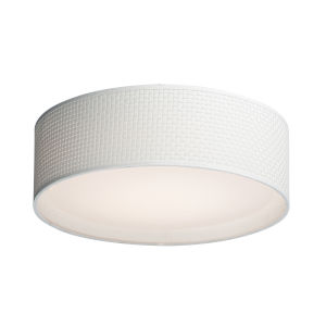Prime White 16-Inch Three-Light LED Flush Mount