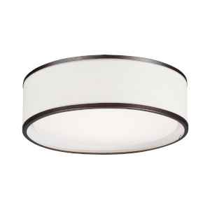 Prime Oil Rubbed Bronze 16-Inch Three-Light LED Flush Mount