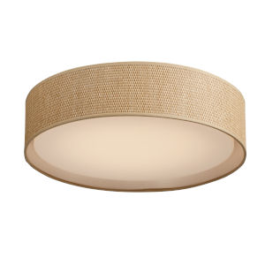Prime Grass cloth 20-Inch Five-Light LED Flush Mount